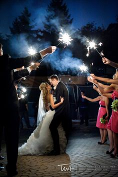 Sparklers for everyone to hold while you exit your reception. |Timothy Whaley & Associates Photographic Artists | Chicago Wedding Photographer|