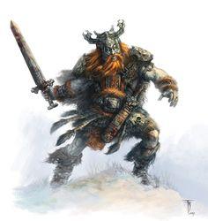 Vanir Male Warrior | Video Games Artwork