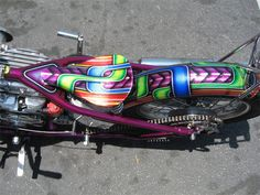 Art & Inspiration Candy Lace Flake Flames wanna see WILD custom paint - Automotive Job - Ideas of Automotive Job - Art & Inspiration Candy Lace Flake Flames wanna see WILD custom paint Custom Motorcycle Paint Jobs, Custom Paint Jobs, Custom Cars, Motos Harley Davidson, Classic Harley Davidson, Creative Arts Therapy, Jaguar, Jobs In Art, Candy Paint