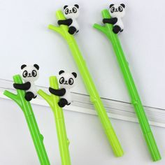2 pcs/lot Green bamboo panda gel pen writing pens kawaii stationery caneta material escolar office school supplies papelaria-in Gel Pens from Office & School Supplies on Aliexpress.com | Alibaba Group