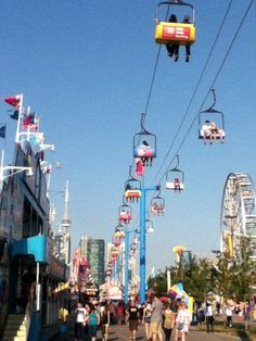 CNE 2013 - I have to admit, I wanted to go in the ski lift, but immediately regretted my decision, but Gaetano enjoyed it. Places Worth Visiting, Places To Visit, I Am Canadian, Canada Eh, Ski Lift, New School Year, Gta, Childhood Memories, Ontario