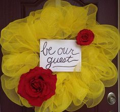 Beauty and the Beast Wreath Belle Wreath Be Our Guest