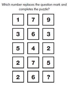IQ Test Question 71 - What is the missing number? Answer: http://www.iqcatch.com/frontend/home/page/IQ-Answer-71