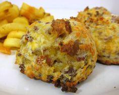 Football Friday - Bacon Cheeseburger Puffs   Plain Chicken
