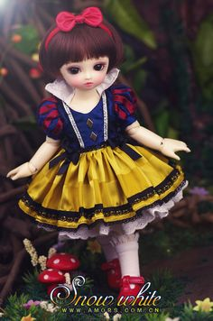AMORS Tailor BJD Dress Set Theme mounted 1/6 min Size SD doll clothes [Snow White] Spot - Taobao
