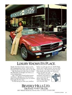 - Mercedes-Benz SL-Class - The Best or Nothing. The Ambitious. Mercedes Auto, Mercedes 350, Mercedes Benz Autos, Old Mercedes, Classic Mercedes, Fancy Cars, Retro Cars, Oldsmobile Toronado, Car Advertising