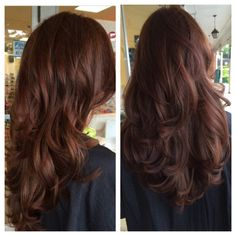 hair color chocolate 64 We Love Dark Hair Color Ideas for Brunette Chocolates Warm Brown's 67 - Hair Color Highlights, Hair Color Dark, Brown Hair Colors, Dark Hair, Color Red, Cinnamon Brown Hair Color, Warm Brown Hair, Dark Red Hair With Brown, Brownish Red Hair