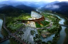 New Korea Hydro Nuclear Power Headquarters in the city of Gyeongju by Haeahn Architecture