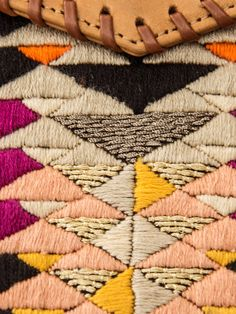 lizzie fortunato: embroidery on clutch detail