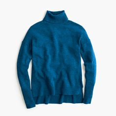 When it comes to can't-live-without wardrobe essentials, there's nothing like a wool turtleneck. This comfy version has an easy, relaxed fit with exaggerated rib trim at the cuffs and waist. Chances are you'll need multiples. <ul><li>Relaxed fit.</li><li>Hits slightly below hip.</li><li>Wool/nylon/viscose.</li><li>Rib trim at cuffs and hem.</li><li>Dry clean.</li><li>Import.</li><li>Online only.</li></ul>
