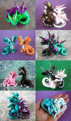 All but the last two are now sold. The bottom two are up for auction on ebay: Hugging Couple: www.ebay.com/itm/121758386916Heart Dragons: www.ebay.com/itm/121758387674 Which couple is you...