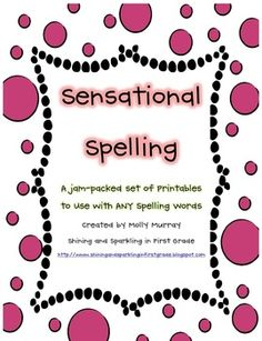Lots of spelling activities for any spelling list.  Perfect for homework, seat work, and center work.