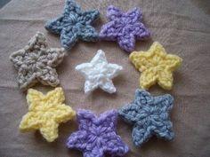 1段で★Petit★星のモチーフの作り方 編み物 編み物・手芸・ソーイング ハンドメイド   アトリエ