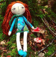 A little Irish pixie in the woods... #fairy #embroidery #irish #forest #mushrooms #eilishtree