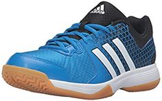 A do-it all indoor shoe built for every court surface. With a breathable mesh and synthetic upper, these men\'s shoes also feature a durable ADIWEAR outsole. Best Volleyball Shoes, Play Volleyball, Shocking Blue, Mizuno Shoes, Men S Shoes, Adidas Shoes, Blue And White, Black, Mesh
