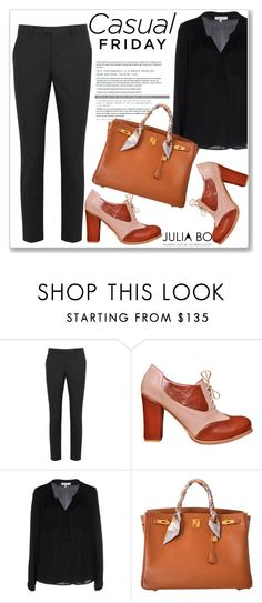 """""""JULIA BO"""" by amra-mak ❤ liked on Polyvore featuring RED Valentino, Milly, Hermès, Womens, oxfordheels, Oxfordpumps, juliabo and Oxfordsforwomen"""