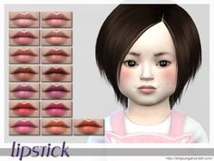 The Sims Resource: Lips Set 31 by shojo angel Toddler Makeup, Kids Makeup, The Sims 4 Bebes, The Sims 4 Skin, Sims 4 Cc Kids Clothing, Sims 4 Children, Sims 4 Cc Makeup, Sims 4 Dresses, Sims 4 Toddler