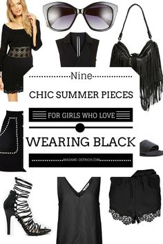 9f7393b9a9f1 9 Chic Summer Pieces For Girls Who Love Wearing Black