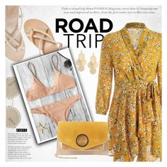 """""""ev It Up: Road Trip Style"""" by vanjazivadinovic ❤ liked on Polyvore featuring Ancient Greek Sandals, Dolce&Gabbana, Tiffany & Co., Halston Heritage, roadtrip, polyvoreeditorial and zaful"""