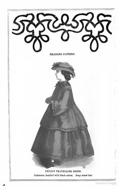 1863 Arthur's Lady's Home Magazine - child's traveling dress civil war era fashion