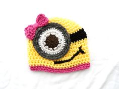 Girl Minion Despicable Me Baby Hat  Baby Photography by MiniShu, £6.00