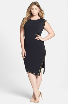 For them classy nights downtown with my girls - MICHAEL Michael Kors Studded Sheath Dress (Plus Size) available at #Nordstrom