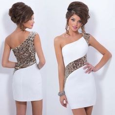 Fashion Sexy One Shoulder Bodycon Dress Sequin Sleeveless Slim Fit Hip Package Dress Clubwear Dress Elegant Dresses For Women, Party Dresses For Women, Sexy Dresses, Short Dresses, Formal Dresses, Bridesmaid Mini Dresses, Cheap Homecoming Dresses, Bodycon Dress Parties, Sexy Party Dress
