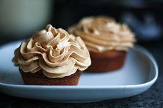 Cupcakes with salted caramel buttercream