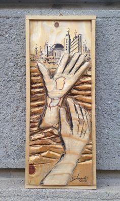Le Sculture di Gerry - Quadro/Bassorilievo in multistrati Titolo: La speranza  Misura cm.19x46