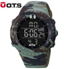 Buy now OTS Outdoor Men Sports Watches Military Digital Watch Men LED Watch Fashion Camouflage Waterproof Wristwatch Relogio Masculino just only $15.99 with free shipping worldwide  #menwatches Plese click on picture to see our special price for you