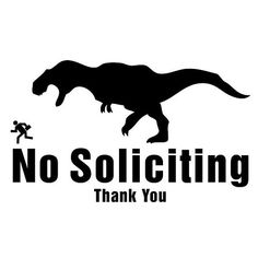 No Soliciting Vinyl Decal TRex Dinosaur by Remarkable Walls on Etsy, $8.00