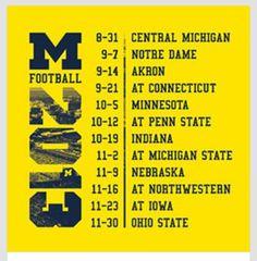 2013 schedule!  Go Blue!