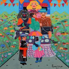 Ignácio da Nega, O Padre e a Catarina (2004) - óleo sobre tela. 40x40 cm