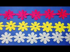 paper cutting decoration how to paper cutting flower chain christmas paper decorations step by