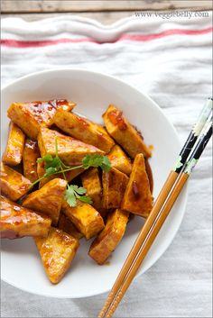 hot and sweet orange tofu