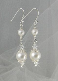 Bridal Earrings perlas