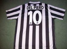 2d46696e557 1995 1996 Juventus DEl Piero Football Shirt XL Maglia Italy Top Classic  Football Shirts