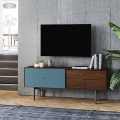 SALE ENDS SOON! The Margo media cabinet features two generously sized drawers, and an ultra-smooth gliding door that can conceal or reveal the contents of a large storage compartment with an adjustable shelf. Media Cabinet, Bench With Storage, Storage Design, Storage Compartments, Home Entertainment, Home Rugs, Interior Design Inspiration, Adjustable Shelving, Storage Spaces