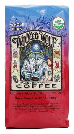 Ravens Brew Coffee BG17558 Ravens Brew Coffee Wckd WoLeaf Blend Bn - 6x12OZ * See this great product.