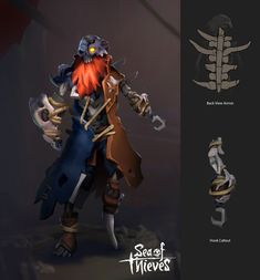 Caribbean Sea, Pirates Of The Caribbean, Skeleton Lords, Supernatural Crossover, Character Art, Character Design, Sea Of Thieves, Pirate Art, Novel Characters