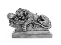 Silver Plated Electrotype Model of the Lion of Lucerne as a Paperweight | eBay SOLD