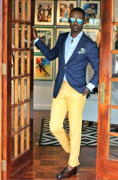 Dandy - love the sorbet lemon with the navy blue