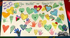 A memory mural in honor of our late principal helped our students to process their feelings.