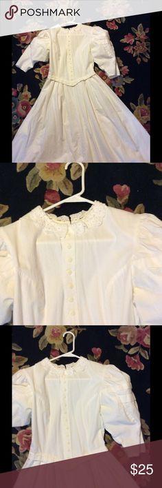 Selling this Victorian whites we wish lovely white dress on Poshmark! My username is: patriciamildred. #shopmycloset #poshmark #fashion #shopping #style #forsale #Vintage #Dresses & Skirts