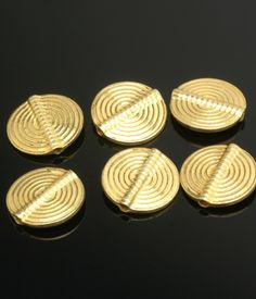 Gold Vermeil Concentric Circle Disc 15mm $5.50 a bead