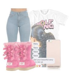 ...... by queennbre1 ❤ liked on Polyvore featuring UGG Australia and Kate Spade