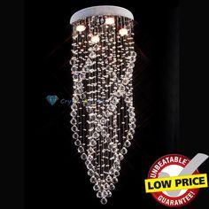 "H100CM 39 4"" Rain Drop Crystal Chandelier Ceiling Lamp Pendant Light Fixture | eBay"