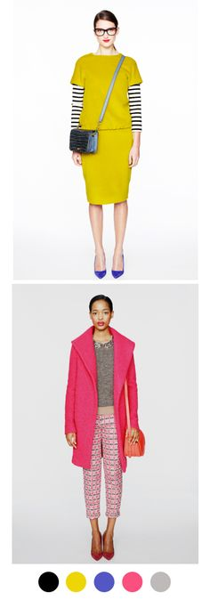 J.Crew does spectacular things with color | via color collective