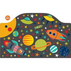 WallPops Blast Off Twin Headboard Decal - DWPH1328