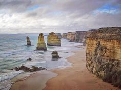 #TBT to my road trip along the Great Ocean Road in southern Australia.  These limestone pillars began as part of the cliffside but stayed stalwart as they watched extreme weather erode the rocky walls around them and the land retreat like a bunch of friends that just nominated you for cleanup crew.  The formation is known as the 12 Apostles but there are only 8. Number 9 crumbled in 2005 and as for 11 and 12 well...they're sort of the imaginary friends of the geological world. Go with it. by…